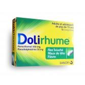 Dolirhume 500 mg/30 mg - Boite de 16 comprimés