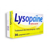 Lysopaïne sans sucre maux de gorge et aphtes - Boite de 36 comprimés