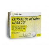 Citrate de Bétaïne UPSA 2 g sans sucre - 20 comprimés effervescents
