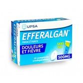 Efferalgan 500 mg sans eau - Boite de 16 comprimés orodispersibles