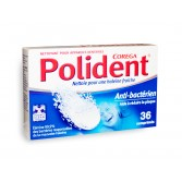 Polident Corega comprimés nettoyants anti-bactérien - Boite de 36 comprimés