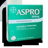 Aspro 500 mg douleurs et courbatures - Comprimés effervescents