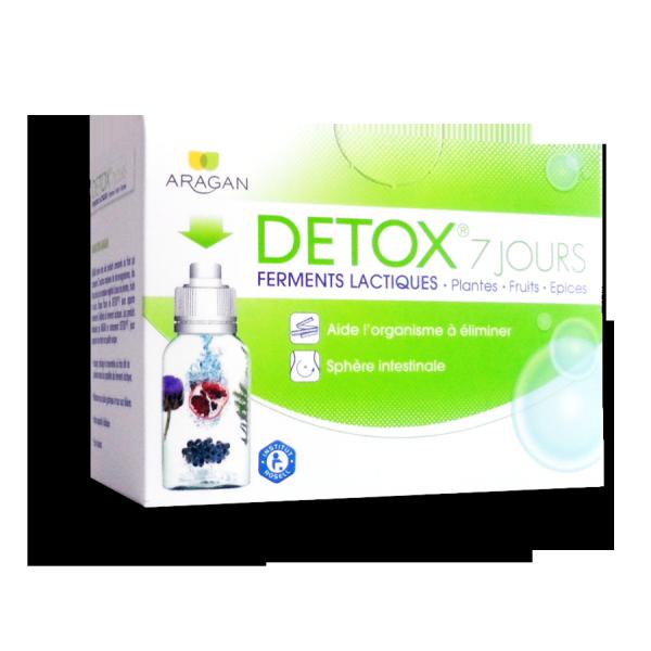 Detox 7 jours Aragan ferments lactiques - 7 flacons