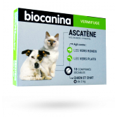 Biocanina Ascatène vermifuge chiens et chats - 10 comprimés