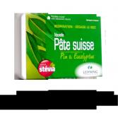 Pâte suisse Respiration Lehning pin et eucalyptus sans sucre - 40 pastilles