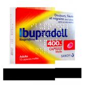 Ibupradoll 400 mg Ibuprofène douleurs et fièvre - 10 capsules molles