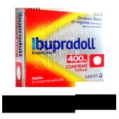Ibupradoll 400 mg Ibuprofène douleurs et fièvre - 12 comprimés