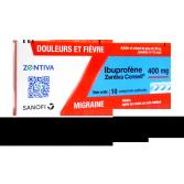 Ibuprofène 400 mg Zentiva Conseil - 10 comprimés