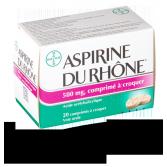 Aspirine du Rhône 500 mg - 20 comprimés à croquer