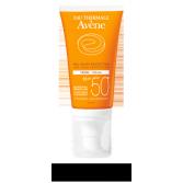 Crème solaire visage SPF 50+ Avène - Flacon pompe 50 ml