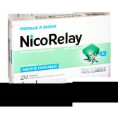 NicoRelay stress et nervosité - 24 pastilles à sucer menthe fraîcheur sans sucre