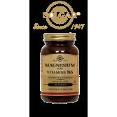 Solgar Magnésium avec Vitamine B6 - 100 tablets sans sucre