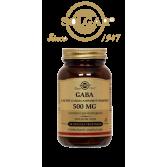 Solgar GABA 500 mg (acide gamma-aminobutyrique) - 50 gélules végétales sans sucre