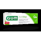 Gum ActiVital gel dentifrice fluoré Q10 - Tube 75 ml menthe fraîche