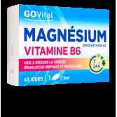 Magnésium Vitamine B6 GOVital fatigue passagère - 45 comprimés