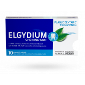 Elgydium chewing gum plaque dentaire fraîcheur intense - 10 gommes sans sucre