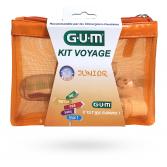 GUM Kit voyage Junior - Brosse à dents, dentifrice, sablier