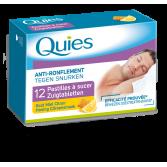 Pastilles anti-ronflement Quies goût miel-citron - 12 pastilles à sucer