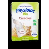 Physiolac BIO Céréales riz, millet et quinoa dès 4 mois - 200 g