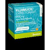Fluimucil expectorant 200 mg adultes/enfants - 30 sachets orange