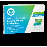 Ha ! Pastilles haleine fraîche et durable - 12 pastilles menthe sans sucre