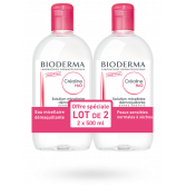 Créaline H2O solution micellaire démaquillante Bioderma - Lot de 2 x 500 ml