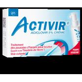 Activir crème 5 pour cent herpès labial - Pompe doseuse 2 g