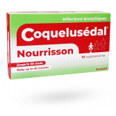 Coquelusédal Nourrisson affections bronchiques - 10 suppositoires