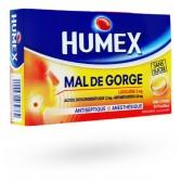 Humex mal de gorge Lidocaïne 2 mg - 24 pastilles miel citron sans sucre