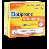 Doliprane Vitamine C 500 mg/150 mg - 16 comprimés effervescents