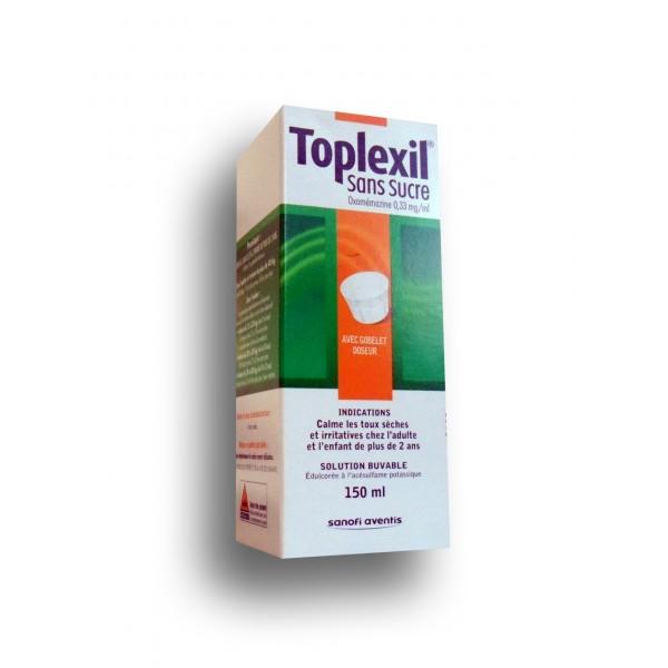 toplexil sirop sans sucre toux s che flacon de 150 ml. Black Bedroom Furniture Sets. Home Design Ideas