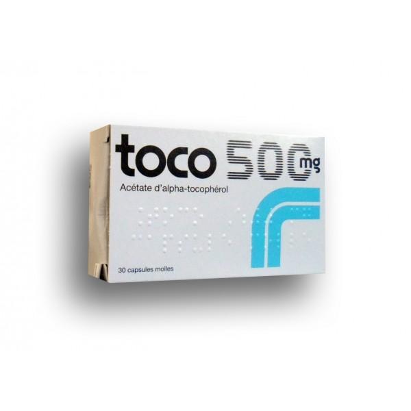 Toco 500 mg vitamine E boite de 30 capsules