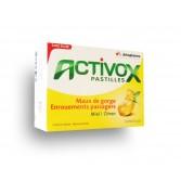 Activox pastilles Maux de gorge - Miel citron