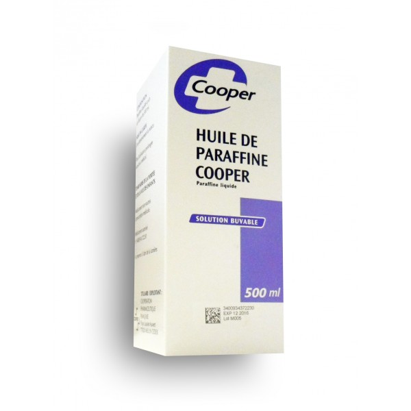 Huile de paraffine Cooper solution buvable 500 ml constipation